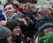 BorrowMyDoggy and Save the Children Break World Record for Most Dogs in Christmas jumpers<br /> More than 300 dogs brave the snow wearing festive knits to support Save the Children's Christmas Jumper Day